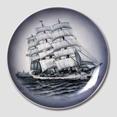 Plate with The Training Ship Denmark, Royal Copenhagen
