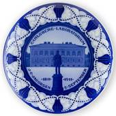 1811-1911 Royal Copenhagen Memorial plate, CARLSBERG LABORATORIUM J.C.JACOB...