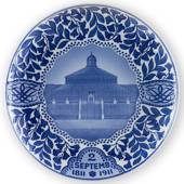 1811-1911 Royal Copenhagen Memorial plate 1811-1911, the Palmhouse in Copen...