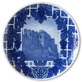 1911 Royal Copenhagen Memorial plate, The castle Lindos at Crete