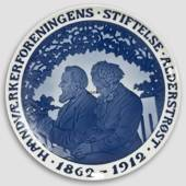 1862-1912 Royal Copenhagen Memorial plate, HAANDVÆRKERFORENINGENS STIFTELSE...
