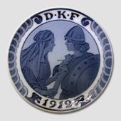 1912 Royal Copenhagen Memorial plate, D.K.F.