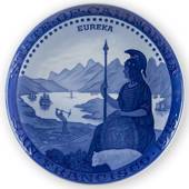 1915 Royal Copenhagen Memorial plate, STATE OF CALIFORNIA - SAN FRANCISCO 1...