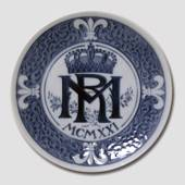 1921 Royal Copenhagen Memorial plate, MR MCMXXI