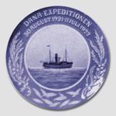 1921-1922 Royal Copenhagen Memorial plate , Dana expedition