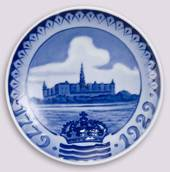 1929 Royal Copenhagen Memorial plate 1779-1929