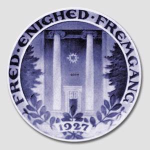 1929 Royal Copenhagen Memorial plate, FRED ENIGHED FREMGANG 1927. ( Peace, unity, prosperity) | Year 1929 | No. RNR261 | Alt. no. 261 | DPH Trading