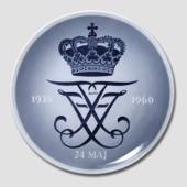 1960 Royal Copenhagen Memorial plate 1935-1960