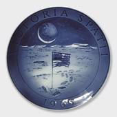 1969 Royal Copenhagen Plate in memory of the moon landing VICTORIA SPATII 1...