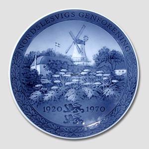 1970 Royal Copenhagen Jubilee plate, The reunion of Denmark and Northern Schleswig 1920-1970 | Year 1970 | No. RNR325 | Alt. no. 325 | DPH Trading