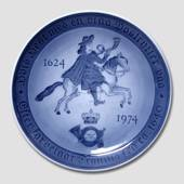 Mail plate 1624-1974, Royal Copenhagen