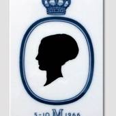 Royal Copenhagen Tile with silhouette of Queen Margrethe