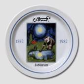 Royal Copenhagen Jubilee plate no. 1 Storm P. 1882-1982, the Tramp