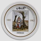 Royal Copenhagen Jubilee plate no. 2 Storm P. 1882-1982, the Tramp