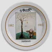 Royal Copenhagen Jubilee plate no. 3 Storm P. 1882-1982, the Tramp