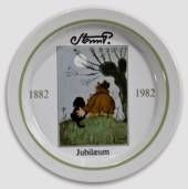 Royal Copenhagen Jubilee plate no. 4 Storm P. 1882-1982, the Tramp