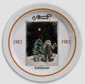 Royal Copenhagen Jubilee plate no. 5 Storm P. 1882-1982, the Tramp