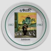 Royal Copenhagen Jubilee plate no. 6 Storm P. 1882-1982, the Tramp