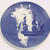 1774-1974 Royal Copenhagen Bicentenary Jubilee plate, The Royal Greenland T...
