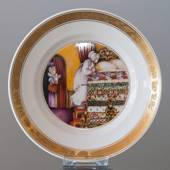 Hans Christian Andersen Fairytale plate, The Real Princess, Royal Copenhage...