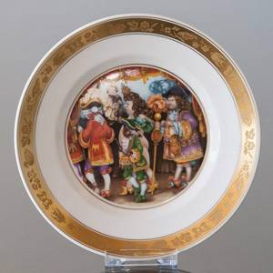 Hans Christian Andersen Fairytale plate, The Emperors New Clothes, Royal Copenhagen | No. RNR528-06 | DPH Trading