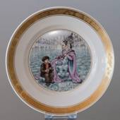 Hans Christian. Andersen Fairytale plate, The Snow Queen, Royal Copenhagen