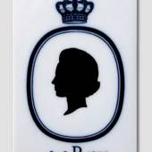 Royal Copenhagen Tile with the Silhouette of Benedicte