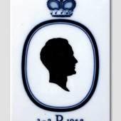 Royal Copenhagen Tile with Silhouette of Prince Richard