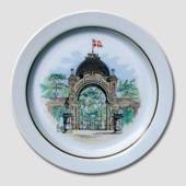 Royal Copenhagen plate Memories of Tivoli The Main Entrence