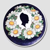 Royal Copenhagen Memorial plate, Queen Margrethe, April 16th april