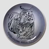 1980-1981 Royal Copenhagen Memorial plate, The Copenhagen Zoo Tiger