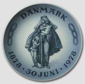 1878-1978 Royal Copenhagen Memorial plate 1878-30 Juni- 1978