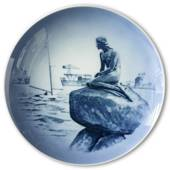 Royal Copenhagen Plate with The Little Mermaid and Langelinie
