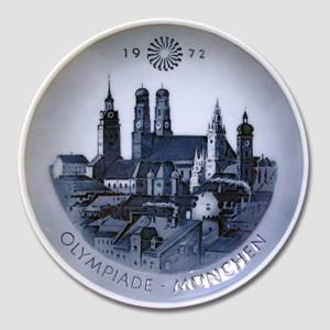 1972 Royal Copenhagen Olympic plate, Munich | Year 1972 | No. RO1972 | Alt. KO720 | DPH Trading