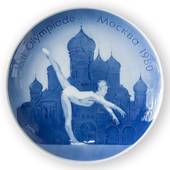 1980 Royal Copenhagen Olympic plate, Moscow