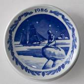 1986 Christmas plaquette, Royal Copenhagen