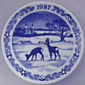1987 Christmas plaquette, Royal Copenhagen