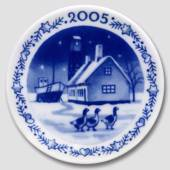 2005 Christmas plaquette, The old Fishing Village at Dragør, Royal Copenhag...