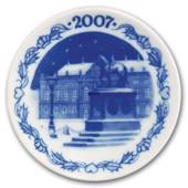 2007 Christmas plaquette,The Equestrian Statue in the Courtyard of Amalienb...