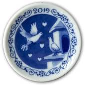 2019 Christmas plaquette, Doves of Peace, Royal Copenhagen