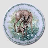 Nature's Children plate, Fawn, Royal Copenhagen