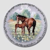 Nature's Children plate, Horse, Royal Copenhagen