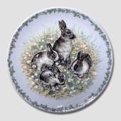 Nature's Children Plate, The Rabbit, Royal Copenhagen