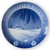 1909 Royal Copenhagen Christmas plate with French text