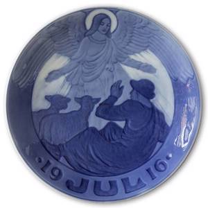 Angel and shepherd 1916, Royal Copenhagen Christmas plate | Year 1916 | No. RX1916 | Alt. 1901016 | DPH Trading