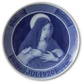 The Virgin Mary with Baby Jesus 1920, Royal Copenhagen Christmas plate