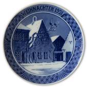 1921 Christmas plate with German text