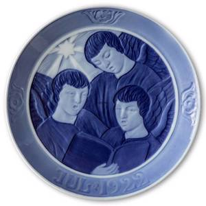 Angels singing 1922, Royal Copenhagen Christmas plate | Year 1922 | No. RX1922 | Alt. 1901022 | DPH Trading