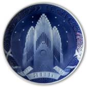The Tower of the Grundtvig Church 1929, Royal Copenhagen Christmas plate