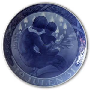 Children by the Christmas tree 1931, Royal Copenhagen Christmas plate | Year 1931 | No. RX1931 | Alt. 1901031 | DPH Trading